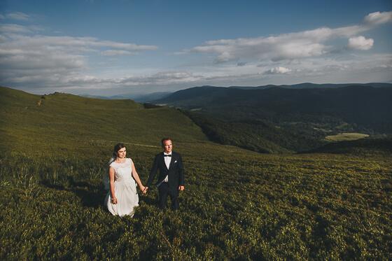 Alicja + Paweł – sesja ślubna w Bieszczadach