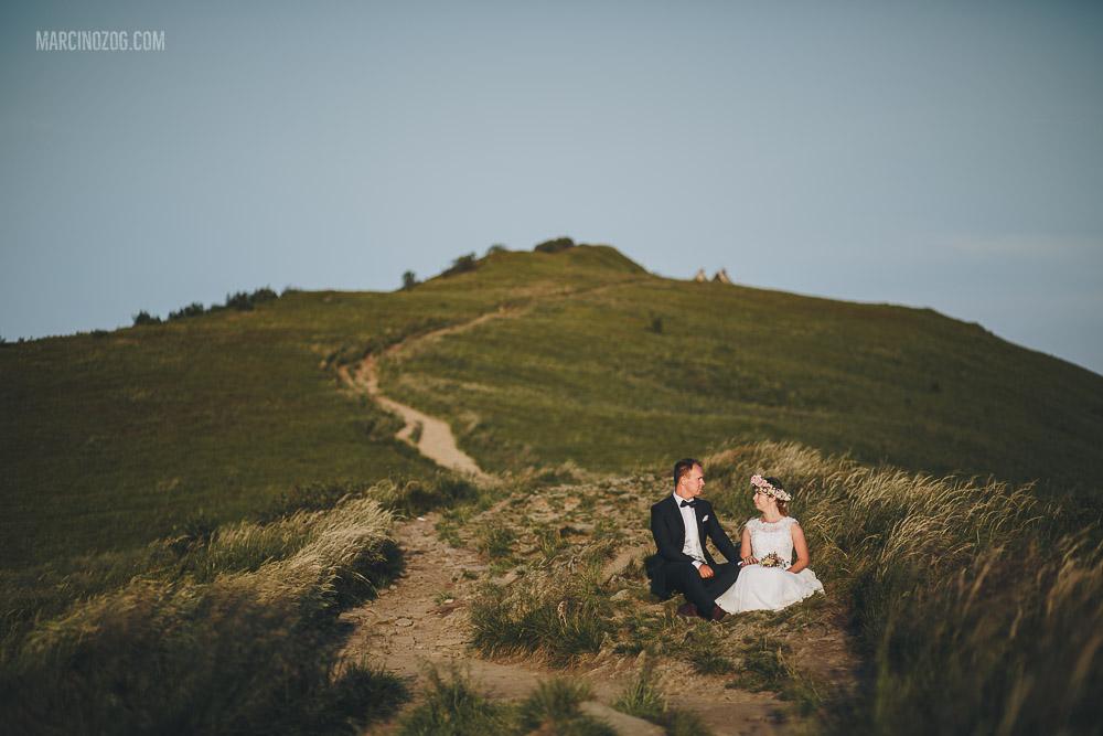 Sesja ślubna na Połoninie Wetlińskiej