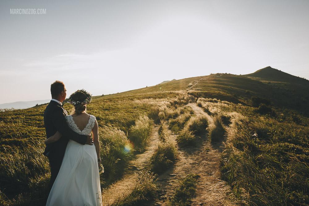 Bieszczady - sesja ślubna