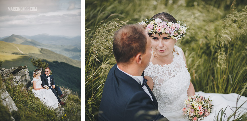Sesja ślubna - kolaż