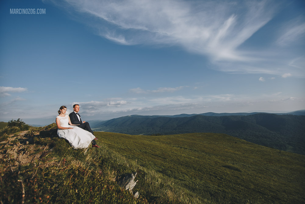 Alicja i Paweł - sesja ślubna na Połoninie Wetlińskiej