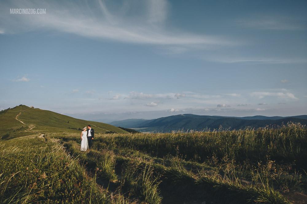 Połonina Wetlińska - sesja ślubna