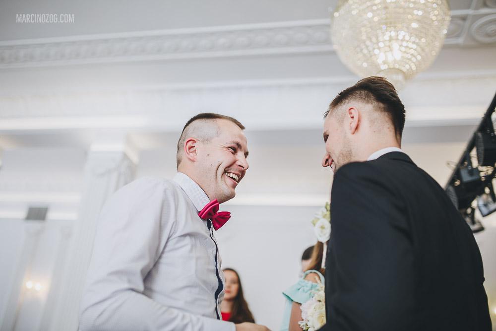 Życzenia gości podczas wesela w Hotelu Łańcut