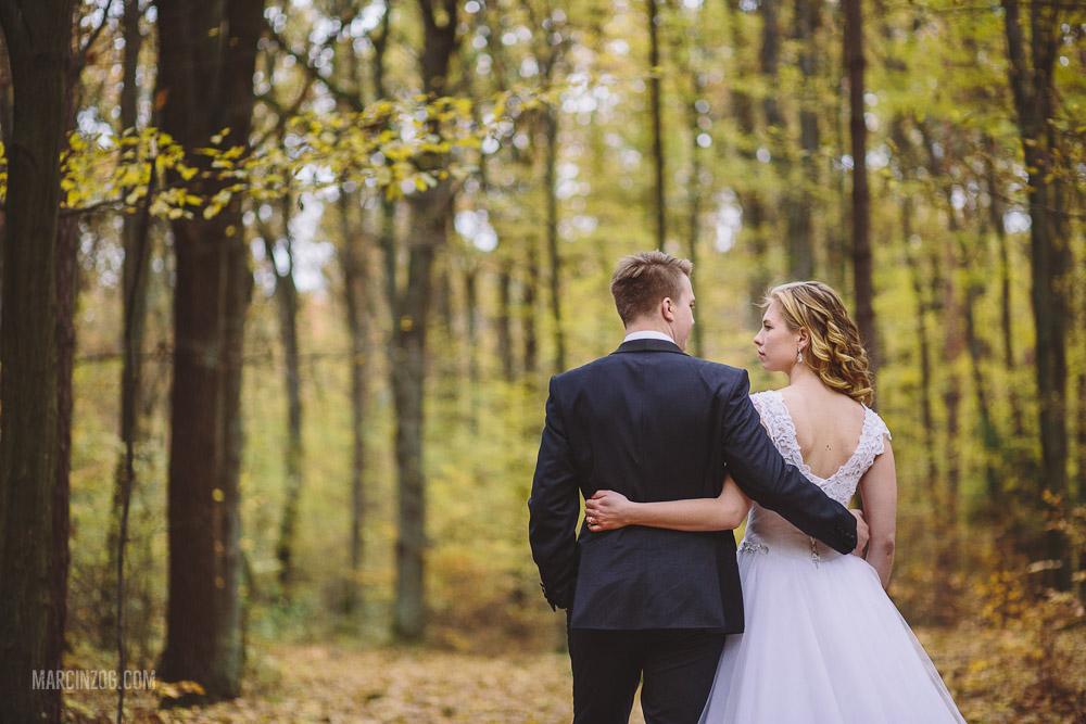 Zdjęcia ślubne Rzeszów - sesja w lesie