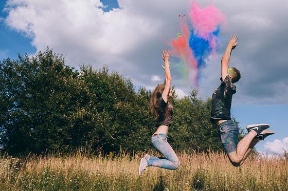 Kolorowa sesja Justyny i Sebastiana