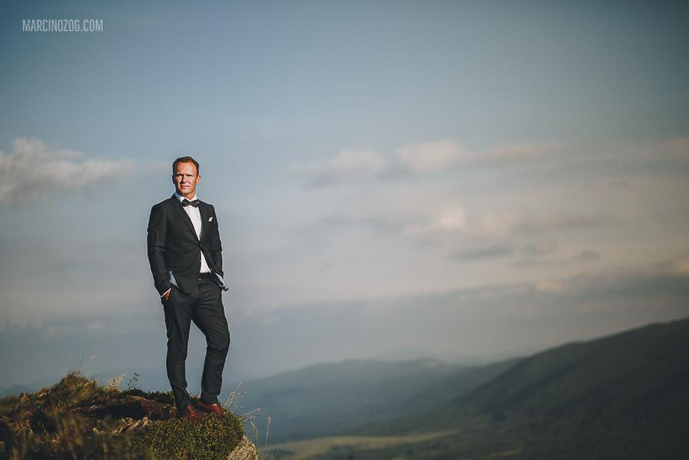 Sesja ślubna - portret Pana Młodego