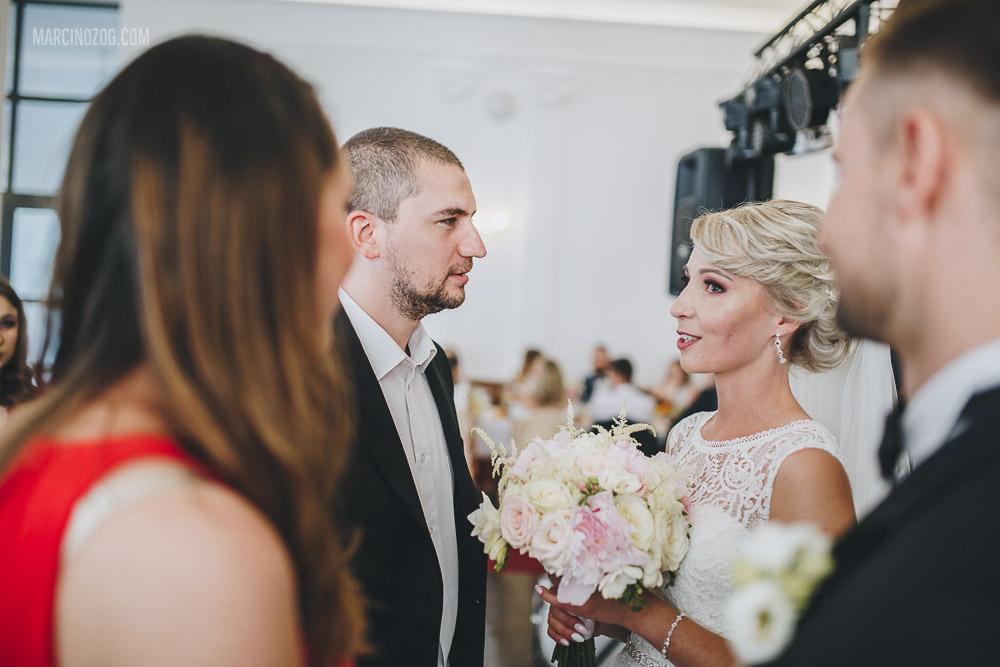 Nie brakło gratulacji, życzeń, uścisków - wesele w Hotelu Łańcut