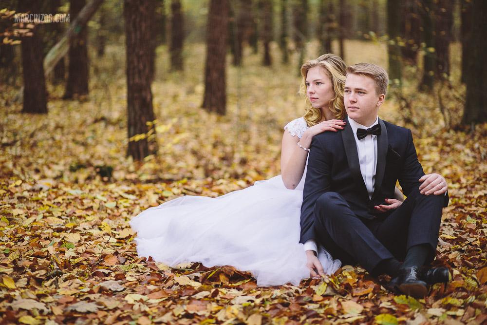 Sesja ślubna Rzeszów - plener w lesie