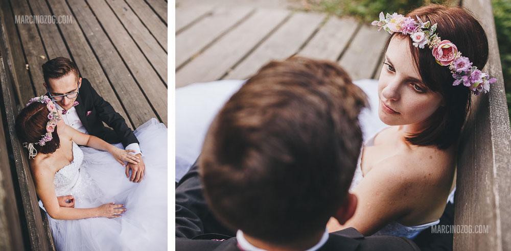 Zdjęcia ślubne Rzeszów - na kładce