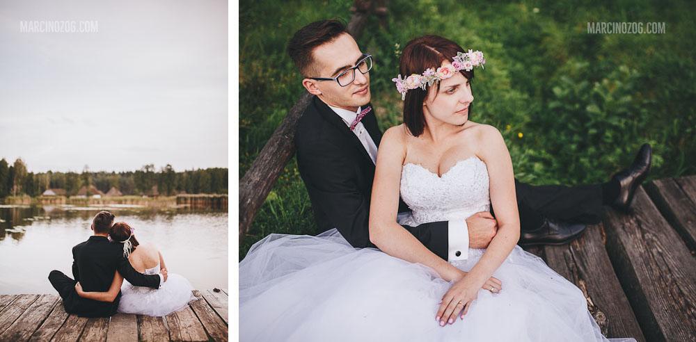 Zdjęcia ślubne Rzeszów - jezioro