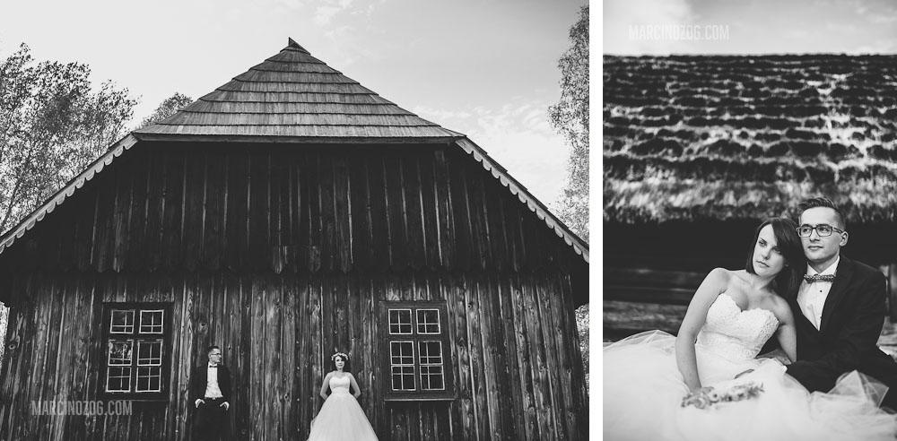 Zdjęcia ślubne Rzeszów - Kolbuszowa - sesja w skansenie